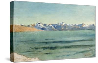 Sunrise over Mont Blanc-Ferdinand Hodler-Stretched Canvas Print
