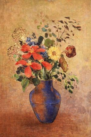 The Blue Vase-Odilon Redon-Stretched Canvas Print