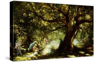 The Big Oak, Raheen, Co. Galway-George Russell-Stretched Canvas Print