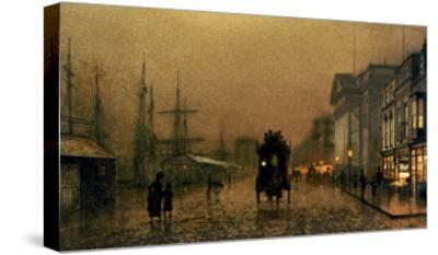 Liverpool Docks-John Atkinson Grimshaw-Stretched Canvas Print