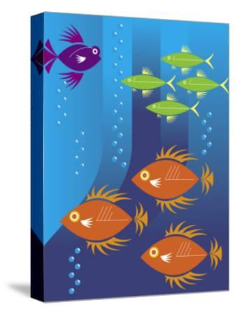 School of Fish--Stretched Canvas Print