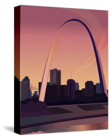 Gateway Arch--Stretched Canvas Print