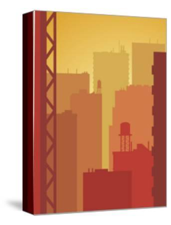 Texture, City Skyline--Stretched Canvas Print