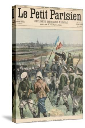 Boxer Rebellion the Allies Advance on Peking- Carrey-Stretched Canvas Print