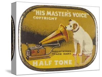 His Master's Voice: The Hmv Dog Listens Eternally- Design-Stretched Canvas Print