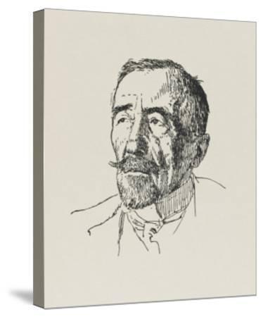 Joseph Conrad Polish-Born Writer in 1922-Powys Evans-Stretched Canvas Print