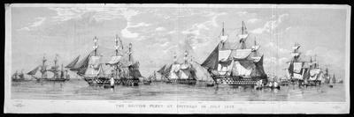 British Fleet Spithead: Nerbudda-Edward Duncan-Stretched Canvas Print