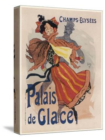 Poster for the Fashionable Palais De Glace in the Champs Elysees Paris--Stretched Canvas Print