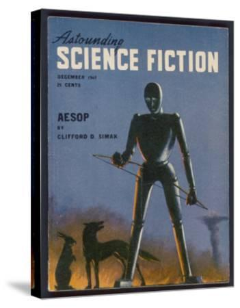 Aesop, a Rather Sad-Looking Robot- Alejandro-Stretched Canvas Print