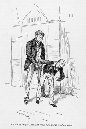 Flashman and Tom-Edmund J^ Sullivan-Stretched Canvas Print