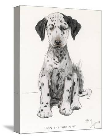 Loopy the Ugly Puppy-Cecil Aldin-Stretched Canvas Print