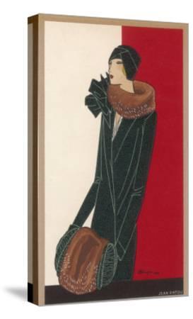 Coat by Patou-C. Benigni-Stretched Canvas Print