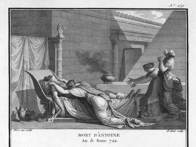 Marcus Antonius Believing Cleopatra Dead Kills Himself to Cleopatra's Distress-Augustyn Mirys-Stretched Canvas Print