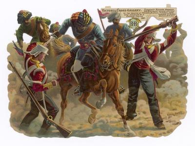 Indian Mutiny 1857-Harry Payne-Stretched Canvas Print