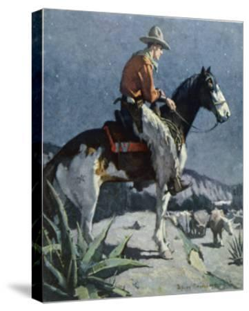 The American Cowboy-Sidney Riesenberg-Stretched Canvas Print