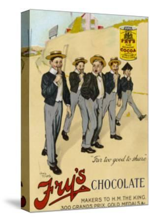 Four Public Schoolboys Enjoy Their Bars of Fry's Chocolate-Chas Pears-Stretched Canvas Print