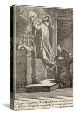 San Giuseppe di Copertino is Levitated to the Altar While He Celebrates Mass--Stretched Canvas Print