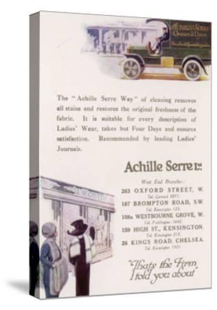 Achille Serre, Cleaners and Dyers--Stretched Canvas Print
