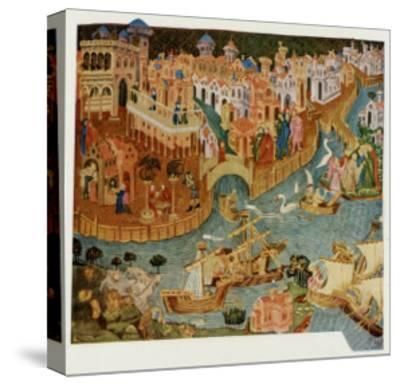 Marco Polo Leaves Venice Almost Certainly on His Second Trip in 1271--Stretched Canvas Print