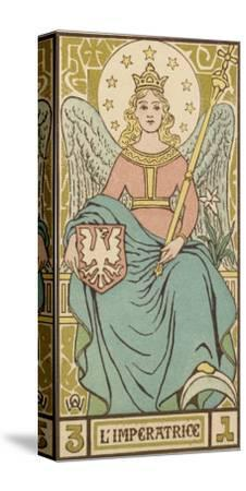 Tarot: 3 L'Imperatrice, The Empress-Oswald Wirth-Stretched Canvas Print