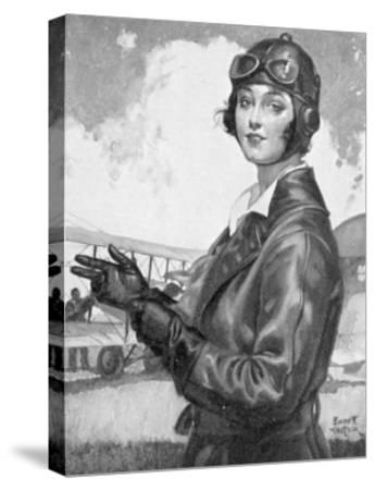 Girl Dressed for the Air-Emmett Watson-Stretched Canvas Print