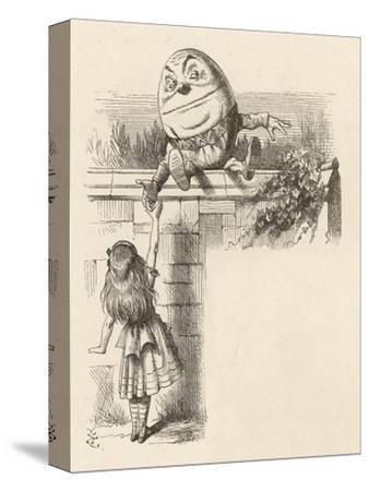 Alice Meets Humpty-Dumpty-John Tenniel-Stretched Canvas Print