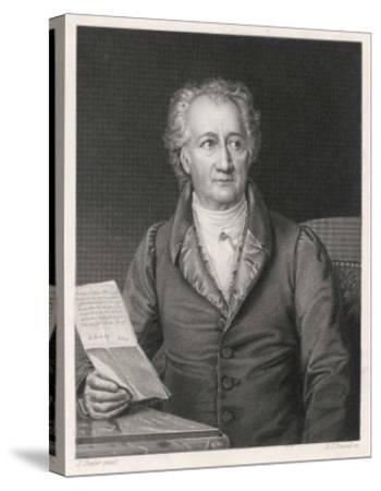 Johann Wolfgang Von Goethe German Writer and Scientist--Stretched Canvas Print