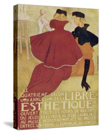Poster for la Libre Esthetique Brussels--Stretched Canvas Print