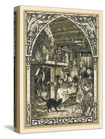 Old Witch Young Witch-Bernard Zuber-Stretched Canvas Print