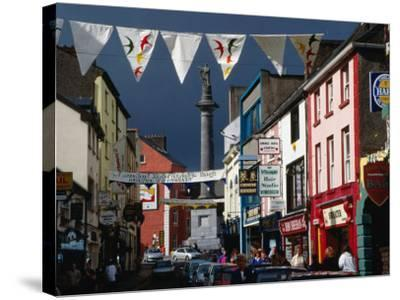 Street Decorated with Buntings and Signs, Ennis, Ireland-Wayne Walton-Stretched Canvas Print