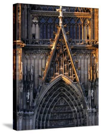 Facade of Cologne Cathedral, Cologne, Germany-Rick Gerharter-Stretched Canvas Print