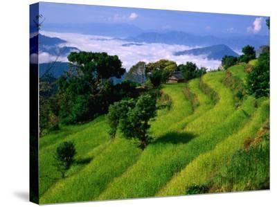 Annapurna South in the Annapurna Sanctuary, Gandaki, Nepal-Carol Polich-Stretched Canvas Print