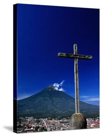 Antigua City and Water Volcano, Sacatepequez, Guatemala-Alfredo Maiquez-Stretched Canvas Print