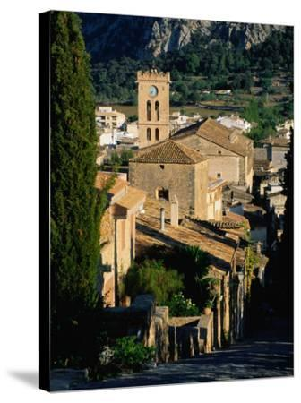 Pollenca Village from the Calvary Steps, Mallorca, Balearic Islands, Spain-David Tomlinson-Stretched Canvas Print