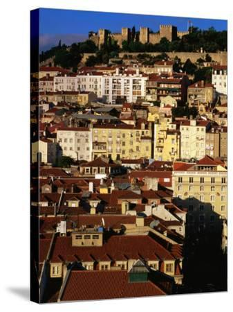 Rooftops and Buildings of City, Lisbon, Portugal-Bethune Carmichael-Stretched Canvas Print