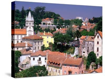 Buildings and Rooftops of City, Sintra, Portugal-Bethune Carmichael-Stretched Canvas Print