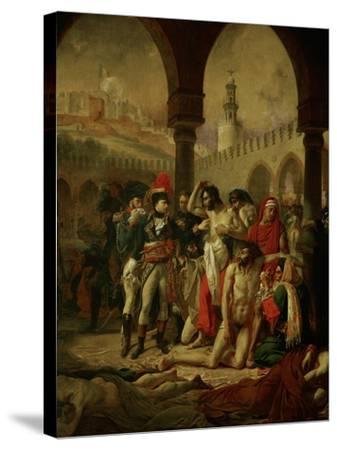 Emperor Napoleon I Bonaparte Visiting the Plague-Stricken in Jaffa-Antoine-Jean Gros-Stretched Canvas Print