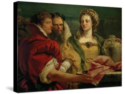 Rebecca at the Fountain-Giovanni Battista Tiepolo-Stretched Canvas Print