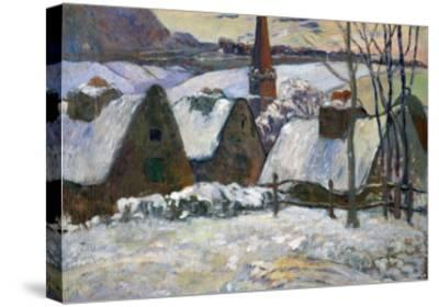 Breton Village Under Snow, 1894-Paul Gauguin-Stretched Canvas Print