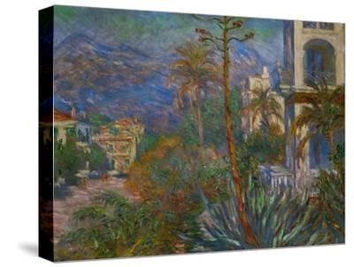 Villas in Bordighera, Italy-Claude Monet-Stretched Canvas Print
