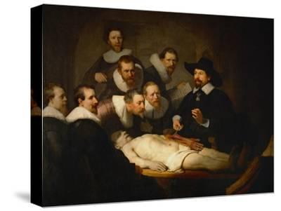 The Anatomy Lesson of Dr. Nicolaes Tulp-Rembrandt van Rijn-Stretched Canvas Print