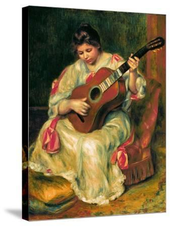 The Guitar Player-Pierre-Auguste Renoir-Stretched Canvas Print