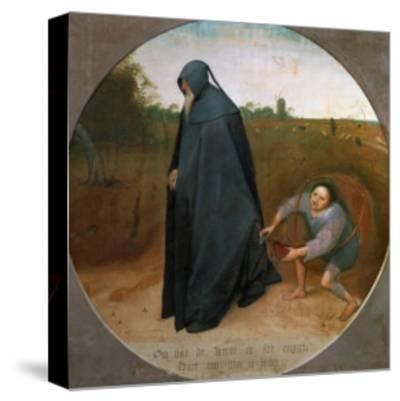 The Misanthrope (The Faithlessness of the World)-Pieter Bruegel the Elder-Stretched Canvas Print