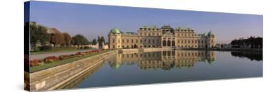 Manmade Lake Outside a Vintage Building, Belvedere Palace, Vienna, Austria--Stretched Canvas Print