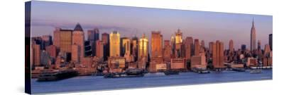 Skyscrapers at Dusk, West Side, New York, USA--Stretched Canvas Print