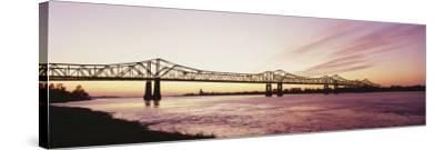 Crescent City Connection Bridge, Mississippi River, Natchez, Mississippi, USA--Stretched Canvas Print