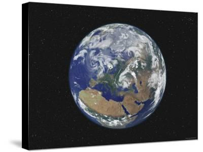 Earth Centered on Europe-Stocktrek Images-Stretched Canvas Print
