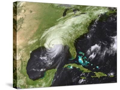 Hurricane Katrina Moved Ashore Over Southeast Louisiana and Southern Mississippi on August 29, 2005-Stocktrek Images-Stretched Canvas Print