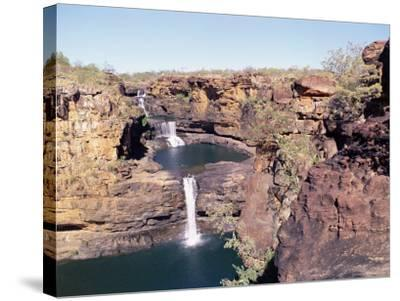 Complete View of All Four Stages of the Mitchell Falls, Kimberley, Western Australia, Australia-Richard Ashworth-Stretched Canvas Print