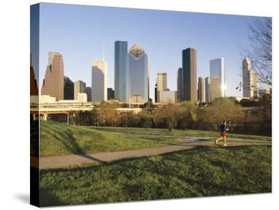 City Skyline, Houston, Texas, USA-Charles Bowman-Stretched Canvas Print